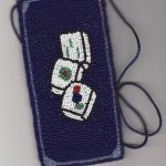 Mah Jongg Handbeaded Eyeglass Holder