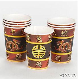 Mah Jongg Paper Cups