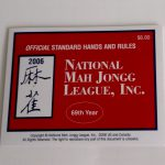 picture about Mahjong Cards Printable named 2019 Nationwide Mah Jongg League card(std. print)Out of Inventory