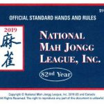 2019 National Mah Jongg League card lg. print